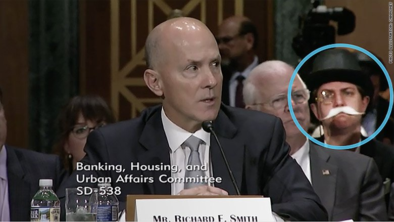 Monopoly Man photobombs Senate hearing on the massive Equifax data breach https://t.co/pRZ7CZRkv6 https://t.co/jJRujVtyxQ