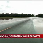 Rains flood roadways, creeks, causing some closures in the area