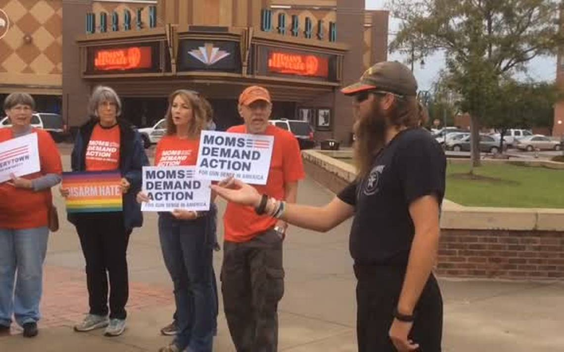 Wichitans protest gun violence following Las Vegas, Lawrence shootings