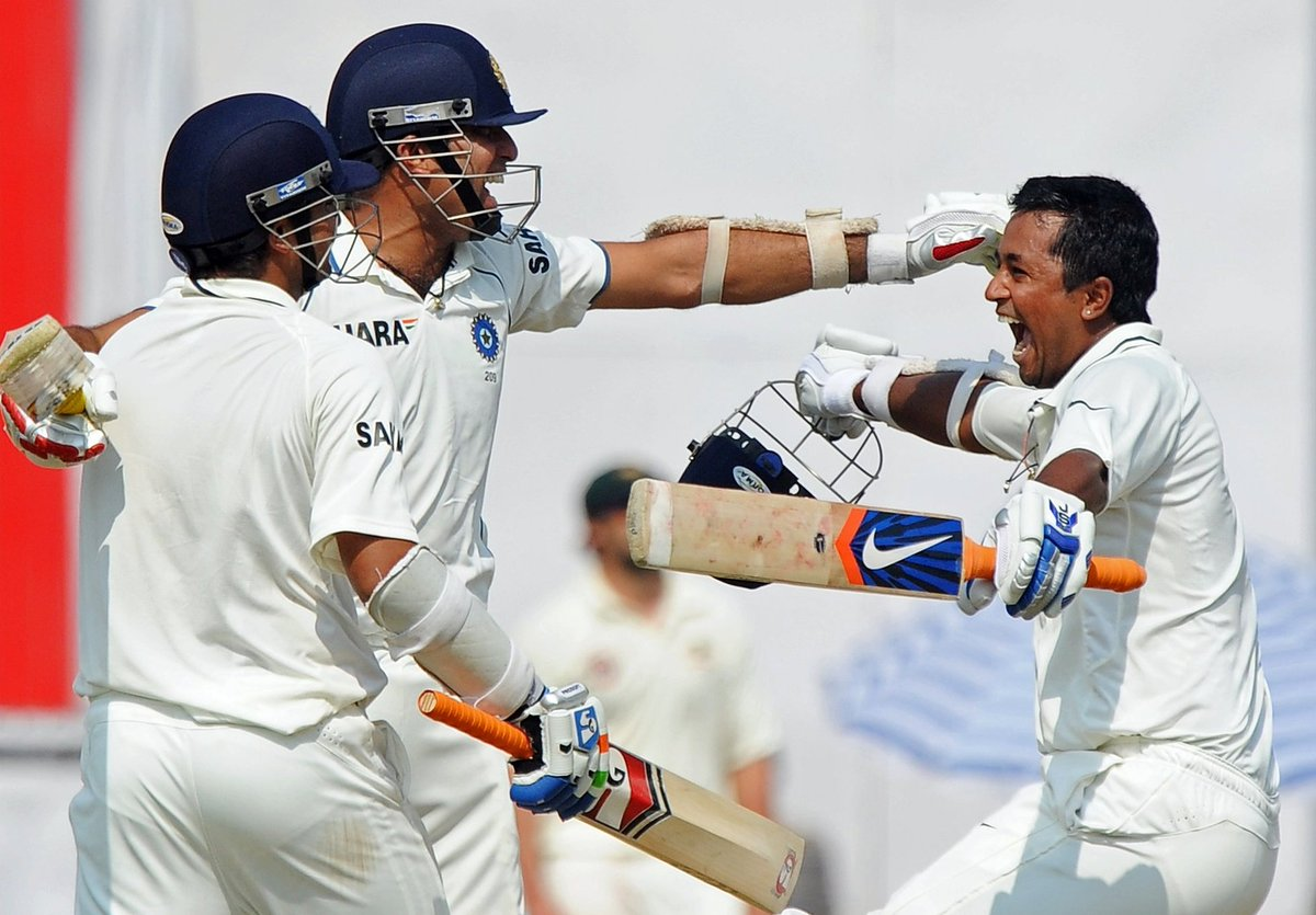 7 years ago on this day,we had one of my most cherished victories in my cricketing career. Was excellent support from Ishant and Ojha :)