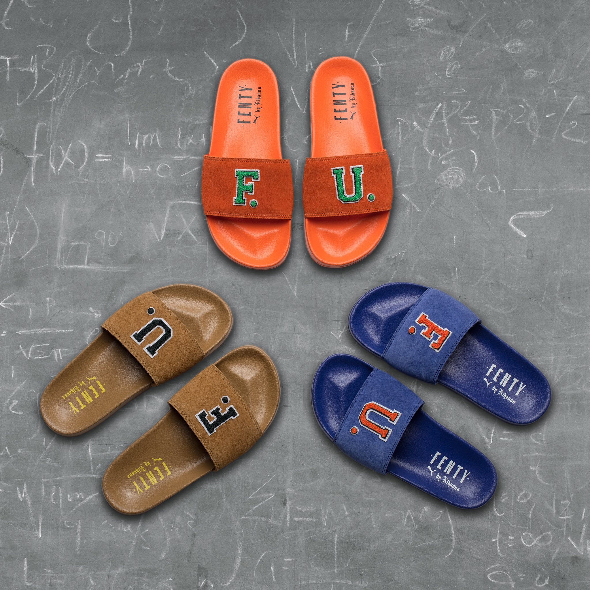 #FENTYxPUMA F.U. suede slides are out now! ... https://t.co/ptA1gkquJY https://t.co/HpGmbOR8Oy