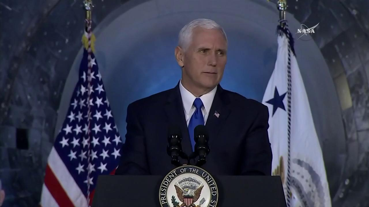 '...and we will return American astronauts to the moon.' - @VP Pence https://t.co/mzKW5uDsTi #NextFrontier https://t.co/80ESi8yLfz