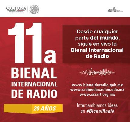 Sigue el segundo día de actividades de la 11a. #BienalRadio desde Zacatecas. En vivo: https://t.co/8HmSnliaLt https://t.co/TtcflPXeN9