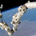 ISS astronauts take spacewalk to replace Canadarm2 part