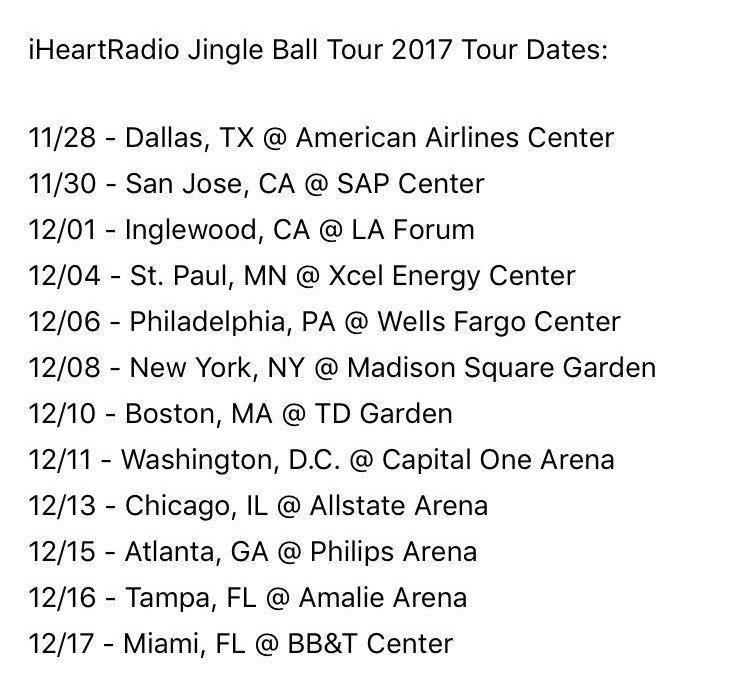Estas são as datas do #iHeartJingleBall onde Liam irá se apresentar. https://t.co/qhtpCQ6S76