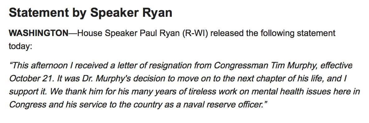 Just In Speaker Ryan Says Hes Received A Letter Of Resignation