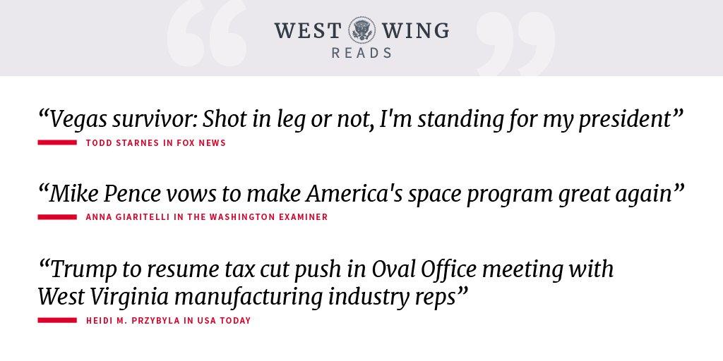 Today's West Wing Reads: https://t.co/YmCH5kYQ4u https://t.co/eZNWbv4sYH