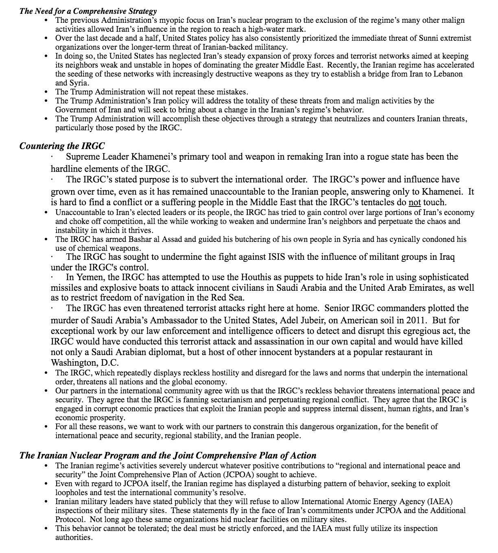 2/2 White House fact sheet on Iran strategy https://t.co/mt33MpW9B1