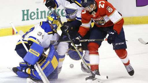Blues lose to Panthers as season-opening run ends at four