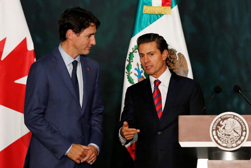 Canada, Mexico vow to stick with NAFTA talks, Mexico works on Plan B