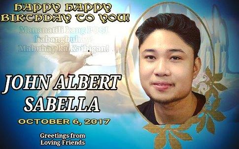 pa great nman ang napaka pogi naming tropa si John Albert Sabella ng Happy Birthday! Laki ng panga mo