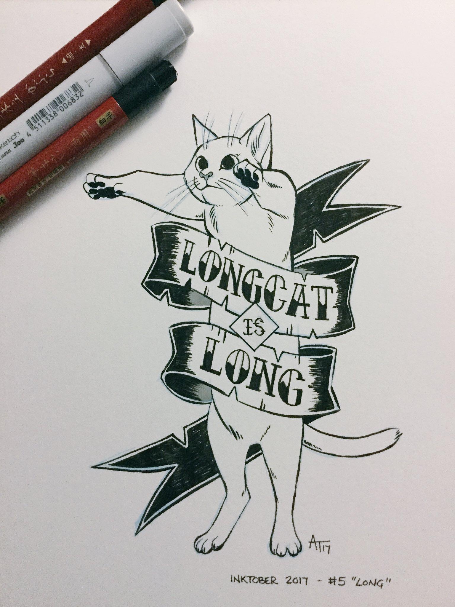 """#inktober #5 - """"Long""""  #inktober2017 https://t.co/CFEuVSREw3"""