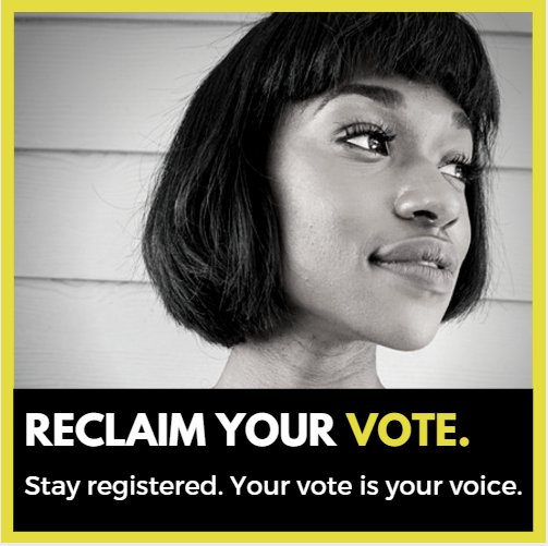 Show @POTUS you won't be intimidated by his #shamvotingcommission. #ReclaimYourVote! Visit https://t.co/5zH0zKZAuu. https://t.co/bumqNZZ4pN