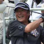 Golf: Golden oldie Ozaki shoots his age with a 70