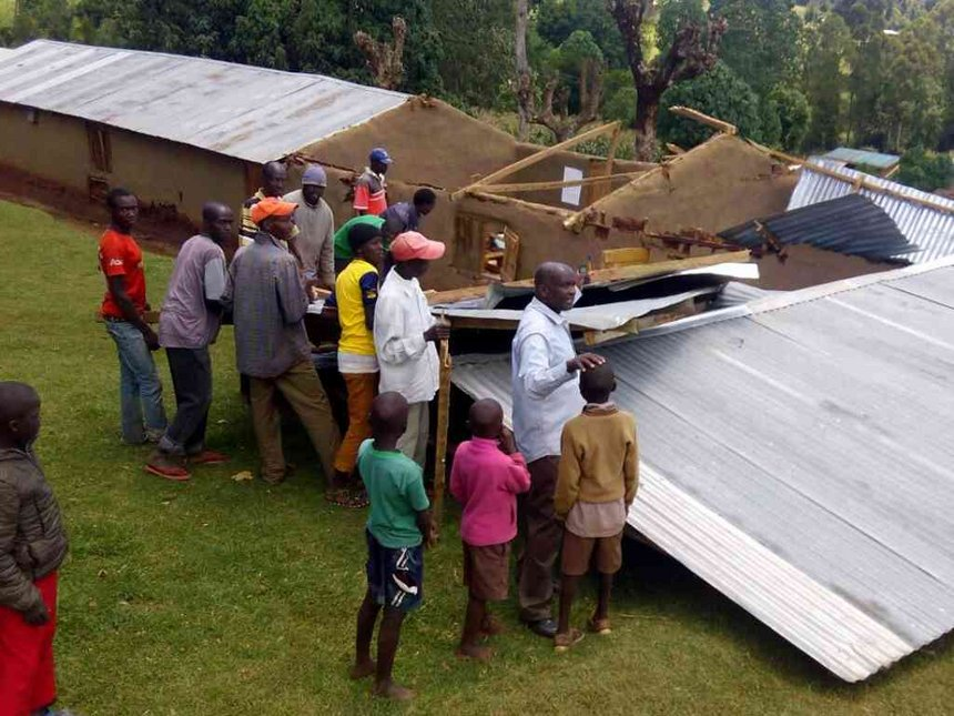 10 pupils injured, roofs blown off after strong winds hit Marakwet school