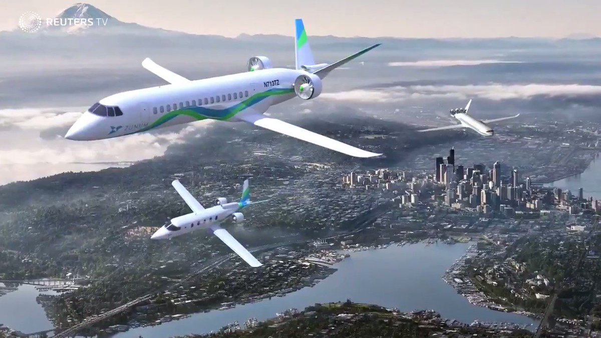 WATCH: Boeing-backed, hybrid-electric commuter plane to hit market in 2022 via @Reuters TV