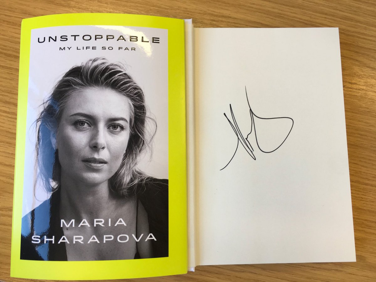 RT @JoanneW39140774: At last it's arrived #Unstoppable @MariaSharapova thank you for answering my question, honored https://t.co/mSTSKLR1tw
