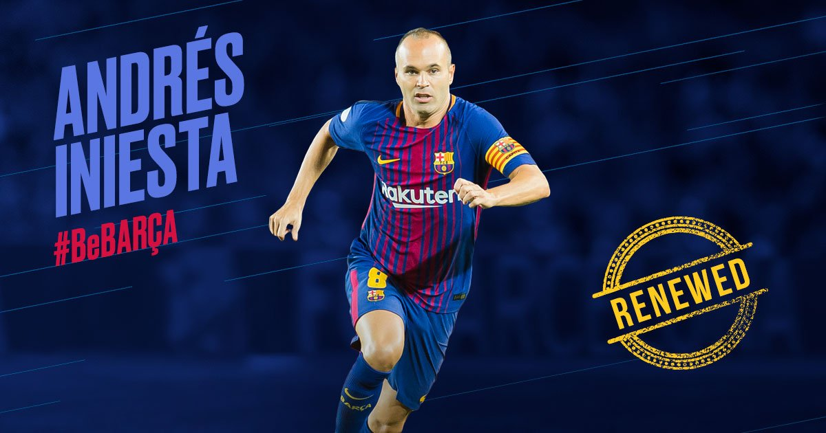 Live stream as Andrés Iniesta signs a contract for life at FC Barcelona: https://t.co/9XpSQmauEP https://t.co/EezvjFt3HN
