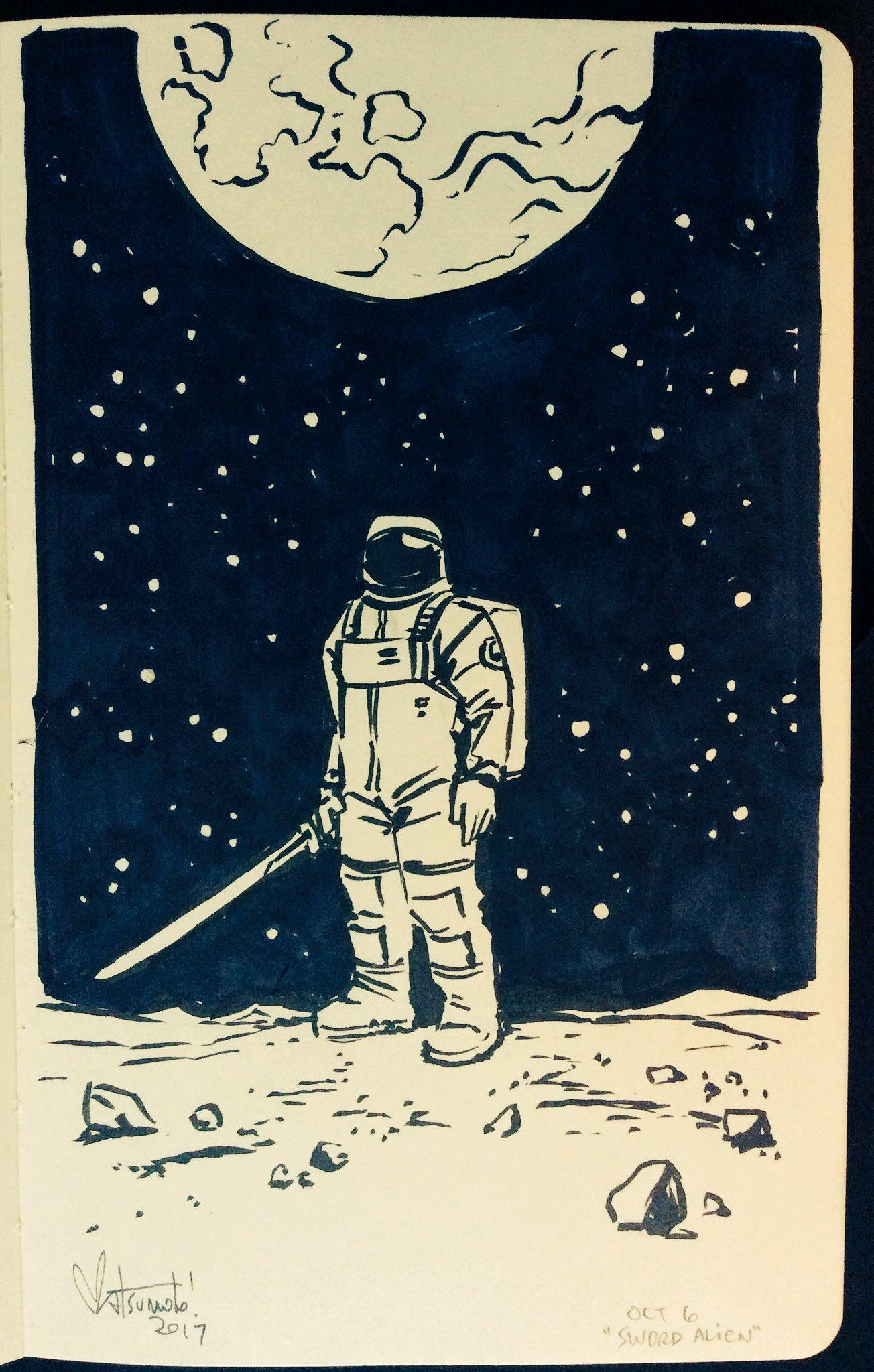 #Inktober day 6: 'sword alien' https://t.co/DI1cQtaq2L