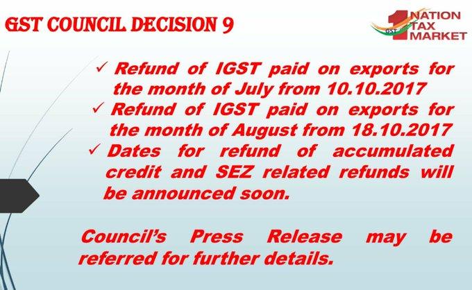 GST Council Decision 9