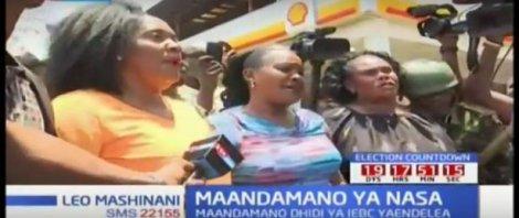 NASA anti-IEBC protesters make dramatic entry into CBD (Video)