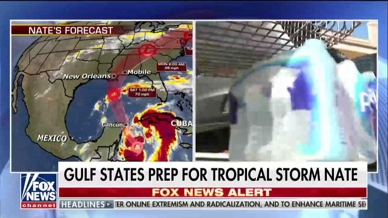 Gulf states prep for Tropical Storm Nate; @JaniceDean has the latest. https://t.co/eXfJNSjwCn