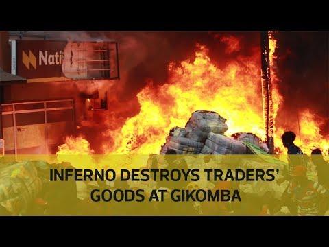 Inferno destroys traders' goods at Gikomba