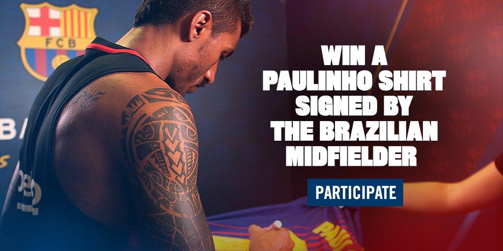 Win a Paulinho shirt signed by the brazilian midfielder. Take part! https://t.co/o8bGPlu5vw https://t.co/BEYrWQ5DGS