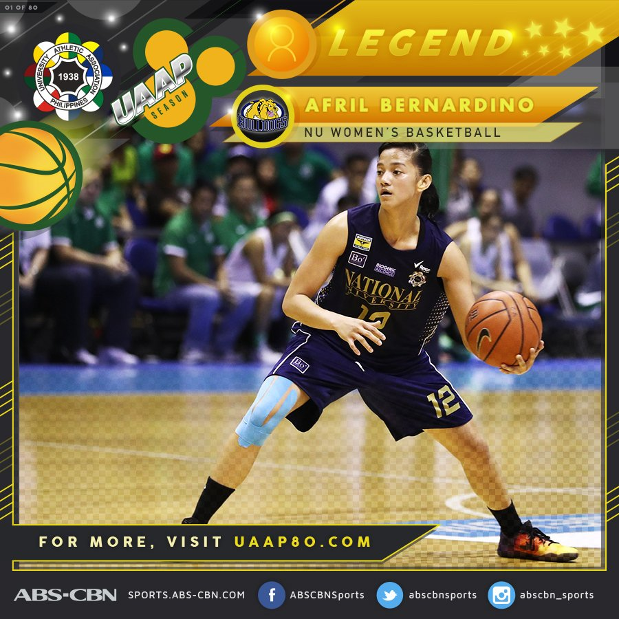 nu's afril bernardino is already regarded as one of the best