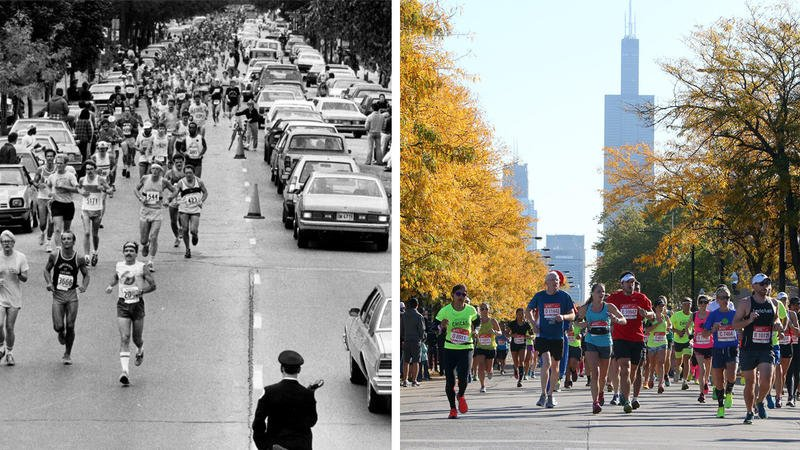 How the neighborhoods along the Chicago Marathon route have changed in 40 years