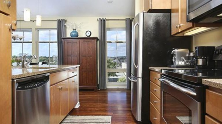 Peek inside this two-bedroom penthouse in Watertown luxury building