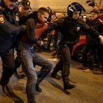 Thousands demand Putin quit as birthday protests turn violent