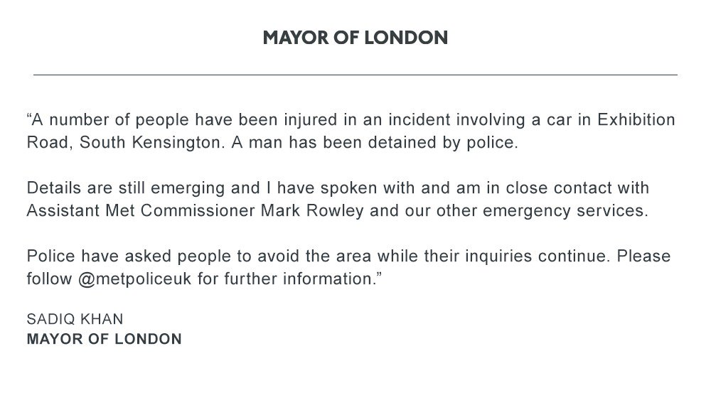 My statement on the incident in South Kensington: https://t.co/uTeo2HabXy https://t.co/sZ0uIHUZHM