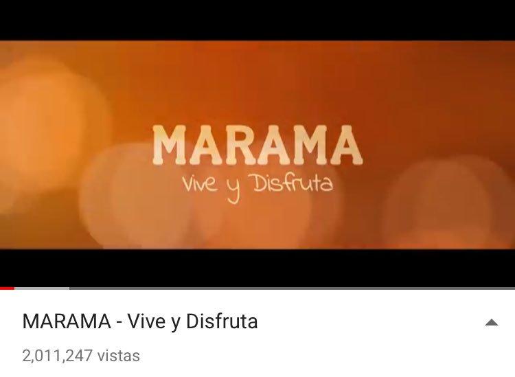 2 millones de reproducciones en Vive y Disfruta ���� @Marama_Oficial #Rombai #AgustinCasanovaTrendy #KCAArgentina https://t.co/WnnTKmNMaf