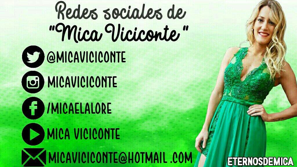 Redes sociales de la Reina @MicaViciconte ���� ��RT Y DIFUNDIR��  #MicaViciconteTrendy #Micaelistas #KCAArgentina https://t.co/ktdBBo4lkM