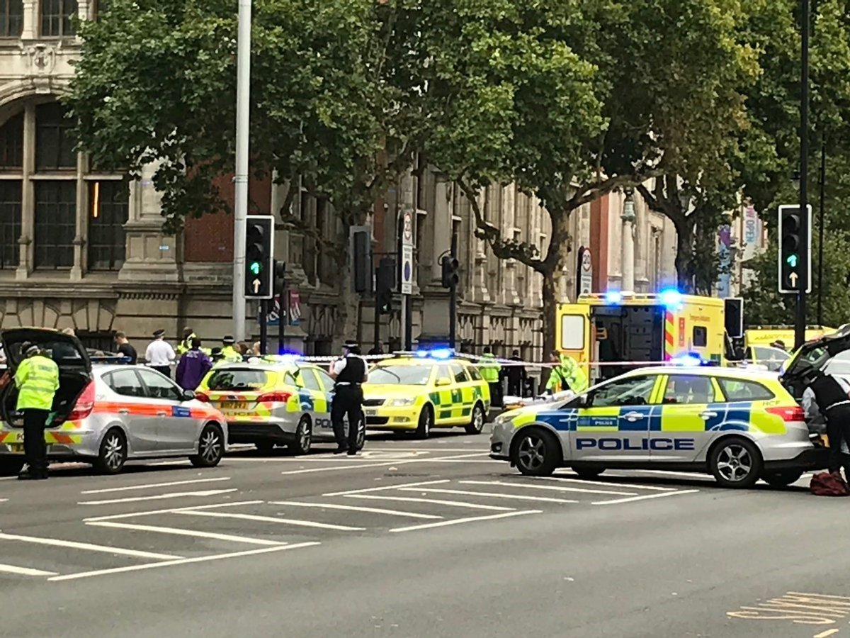Police: People injured after car hits pedestrians near London museum