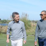 Obama plays golf with Argentina's Macri after energy summit