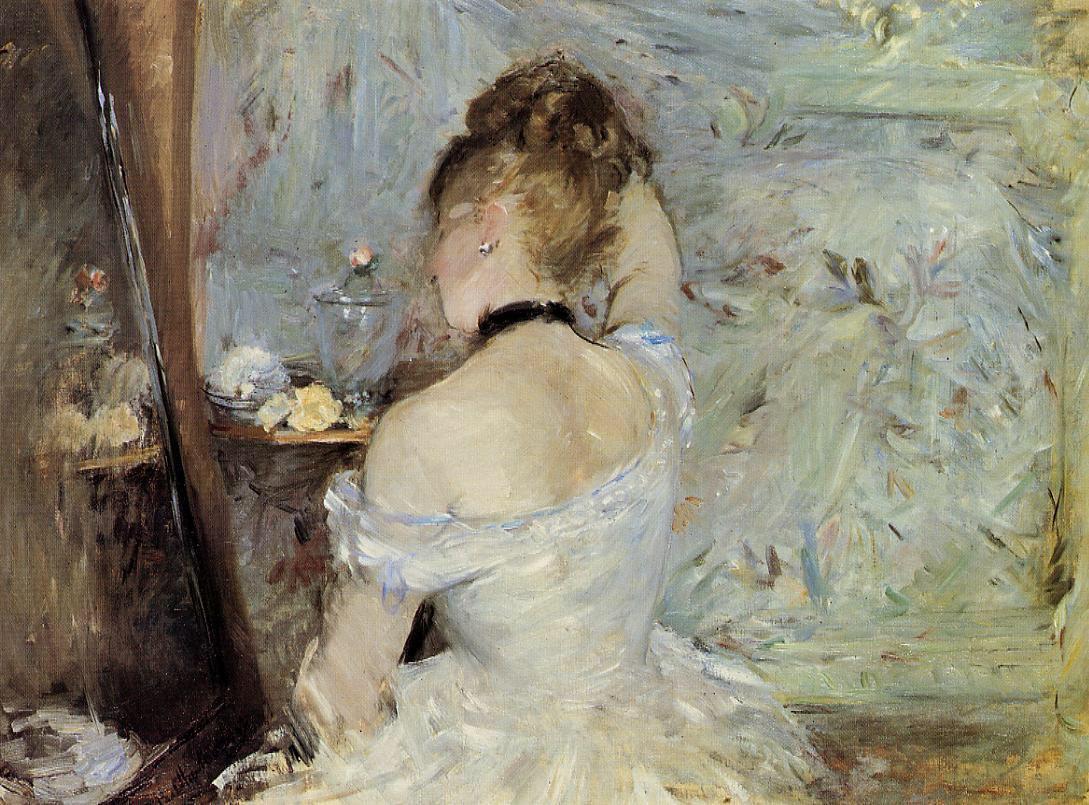 Una buona serata �� Berthe Morisot - Young Woman At The Mirror @mmayr5 https://t.co/ZUa15qW5yS