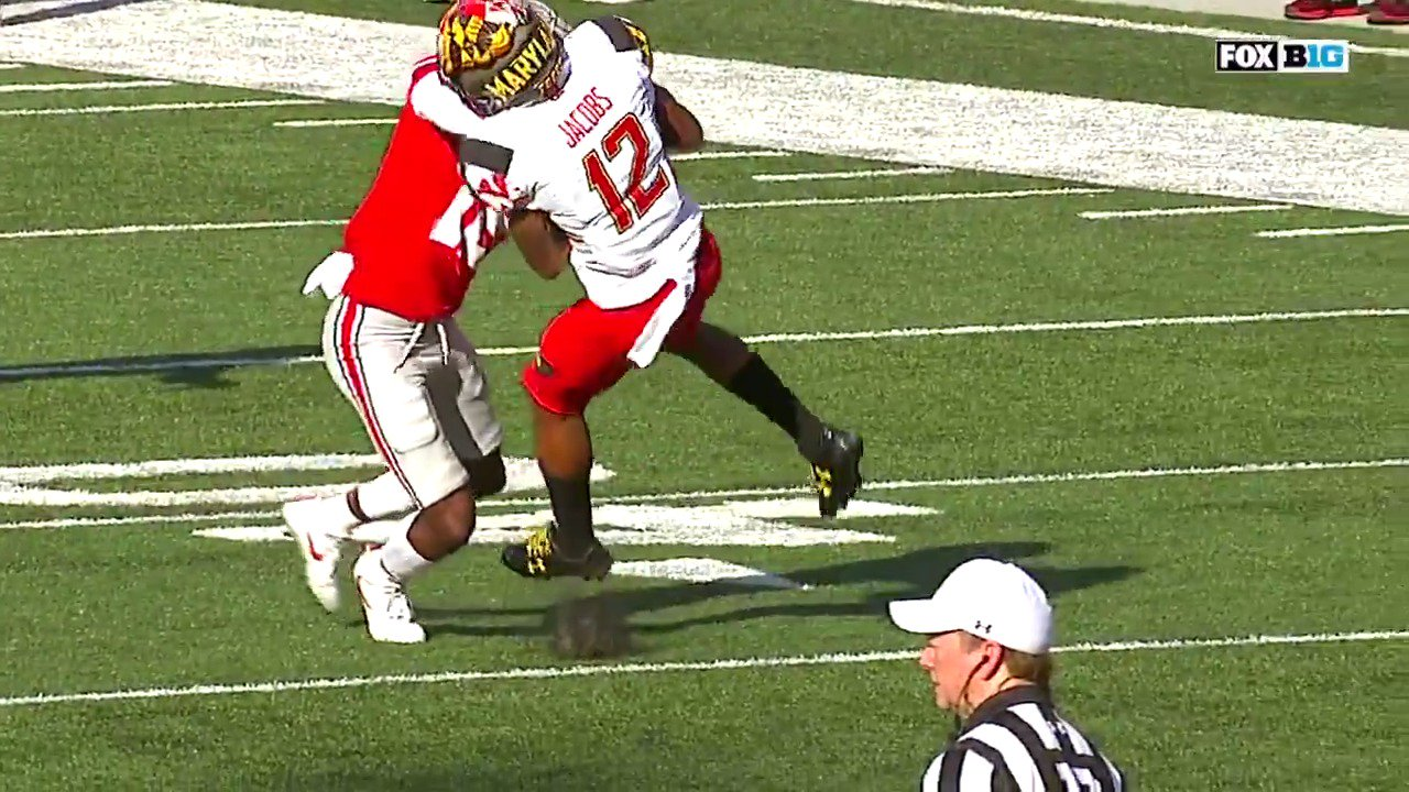 Was this a penalty?  @joelklatt vehemently disagreed with the targeting call in Maryland-Ohio State. https://t.co/ZATNKWZSz9