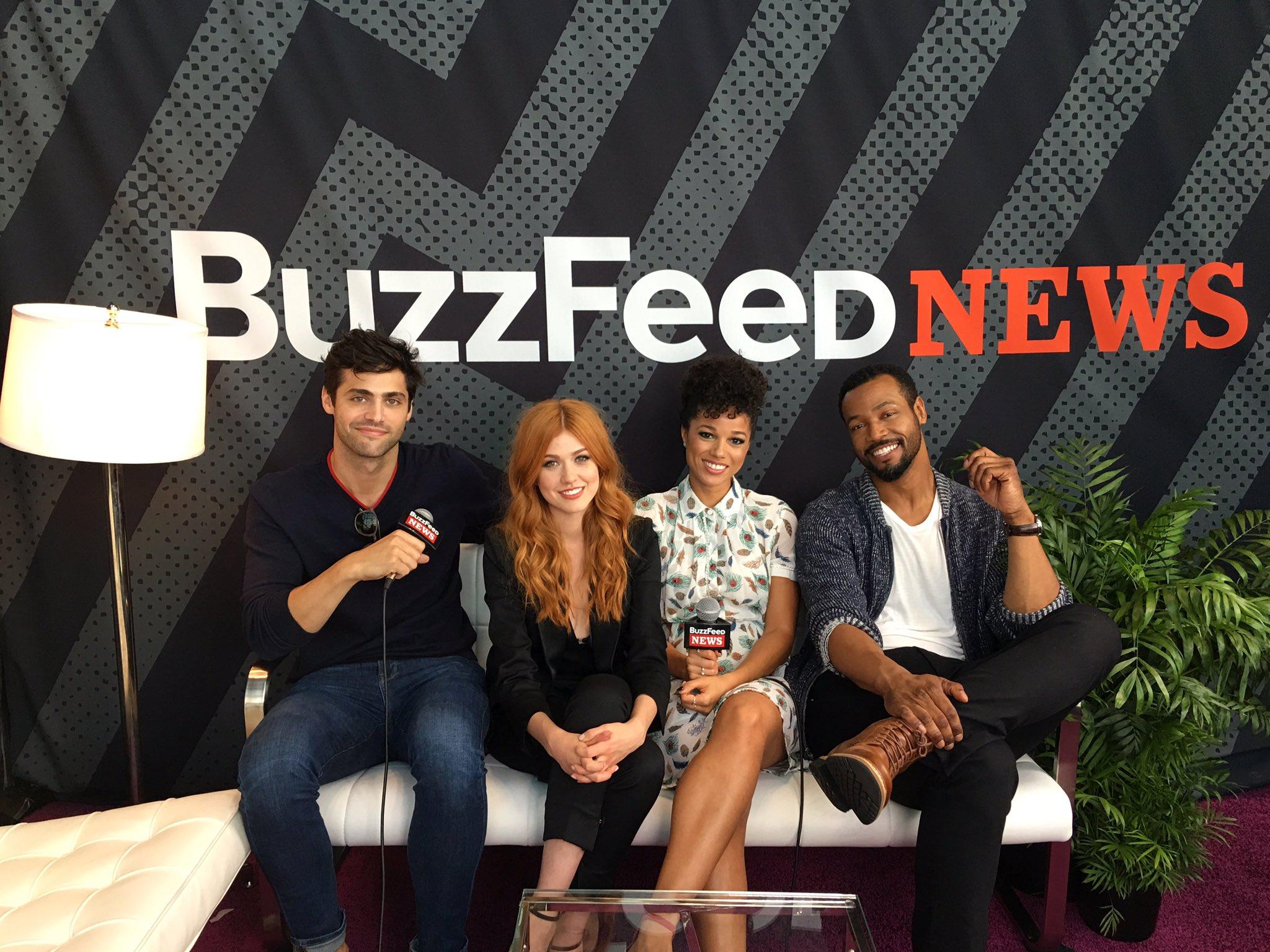 #Shadowhunters crew at @BuzzfeedNews. Let's go. �� #ShadowhuntersNYCC https://t.co/Pqm7YfOFpm