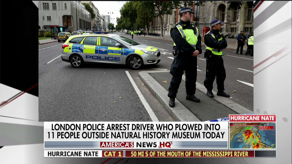 London police arrest driver who plowed into 11 people outside Natural History Museum