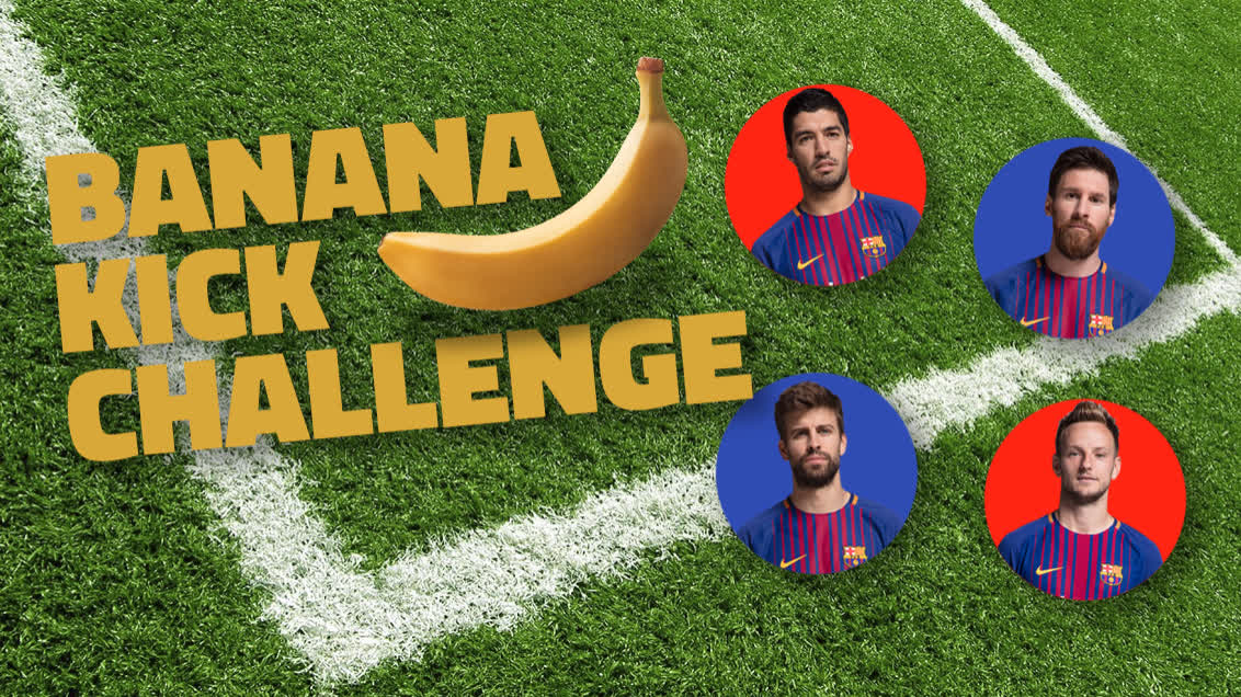 �� Banana Kick Challenge �� Who can bend it best? https://t.co/lm9L3J4Odl