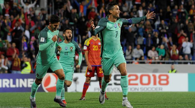 Cristiano Ronaldo lifts Portugal to victory in 2018 FIFA World Cup qualifier, sets up Switzerlandshowdown
