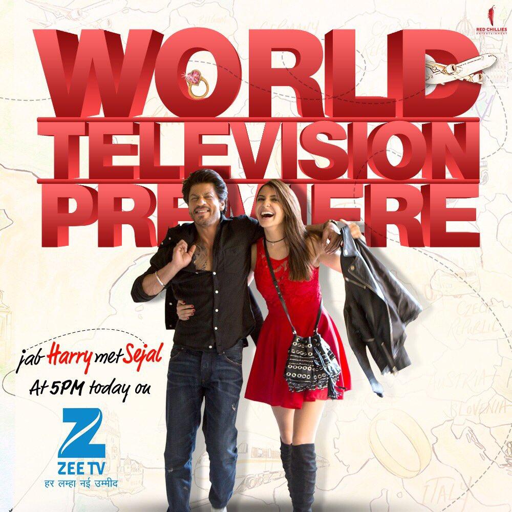 Watch #JabHarryMetSejal today 5PM only on @ZeeTV  #JHMSOnZeeTV https://t.co/a7cvNgjfNf