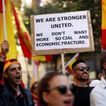 Protesters rally against Catalan independence in Barcelona