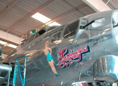 WWII bombers arriving for museum exhibition