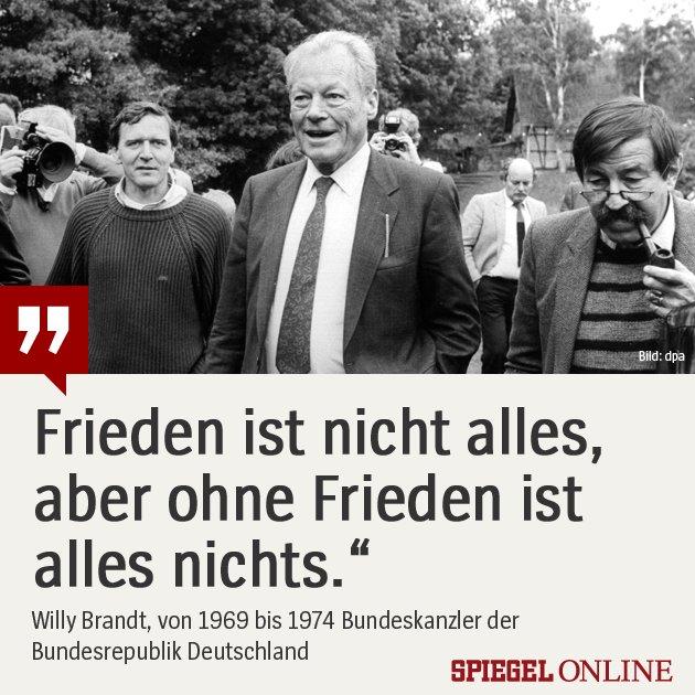Bundeskanzler spd ikone und friedensnobelpreistr ger for Spiegel nachrichten heute