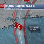 Hurricane Nate makes landfall near mouth of Mississippi River as Category 1 storm
