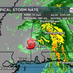 FIRST ALERT: Nate Weakens to Tropical Storm Overnight, Takes Aim at Alabama