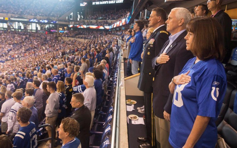 US Vice President Mike Pence exits National Football League game after anthem protest